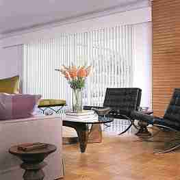 """S"" Curved Custom Vertical Blinds"