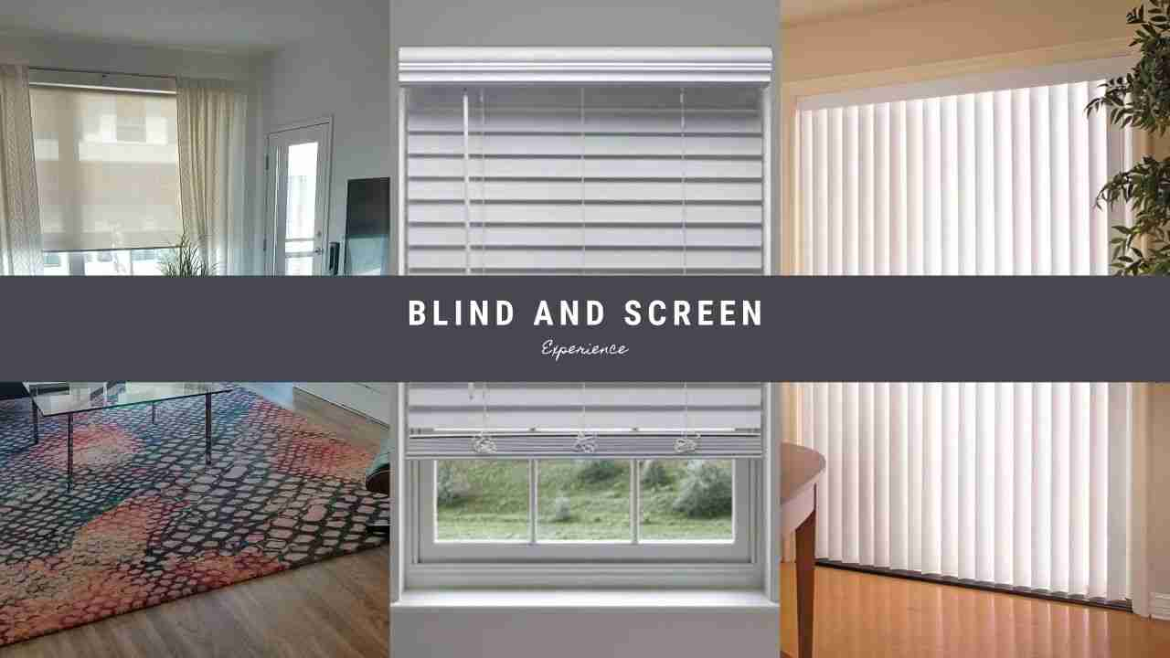 Blind and Screen home page header